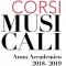 Corsi musicali (Anno Accademico 2018-2019)